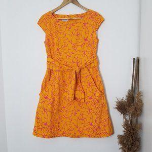 Pure Alfred Sung | Orange Pink Floral Mini Dress S